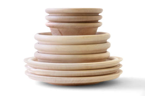 Minimalist Wooden Tableware - This Elegant Wooden Dishware is Matali Crasset's Newest Line