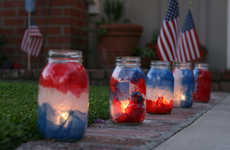 DIY Patriotic Luminaries