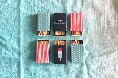 DIY Patriotic Matchboxes - This Fourth of July Matchbox Tutorial is a Perfect Subtle Detail