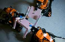 Collaborative Building Robots - These Collaborative Robots Work Together On Construction Tasks