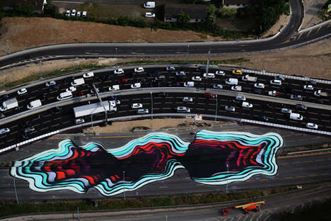 Highway Art Installations - 1010's Roadside Graffiti Project Beautifies an Industrial Transit Space