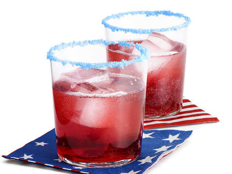 Festive Candy-Rimmed Cocktails - This Pop Rocks Cocktail is Great for Fourth of July Parties