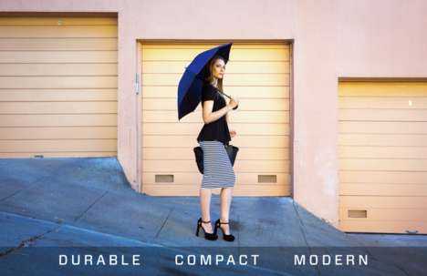 All-Weather Umbrellas - The 'Blue Jean Umbrella' Will Protect Against Rain and Harmful UV Rays