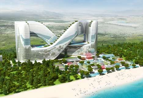 Infinity Symbol-Shaped Hotels - This PyeongChang Resort Takes the Shape of a Figure-Eight