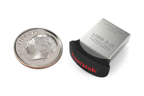 Dime-Sized Flash Drives - SanDisk Ultra Fit is the World's Smallest 128GB Design