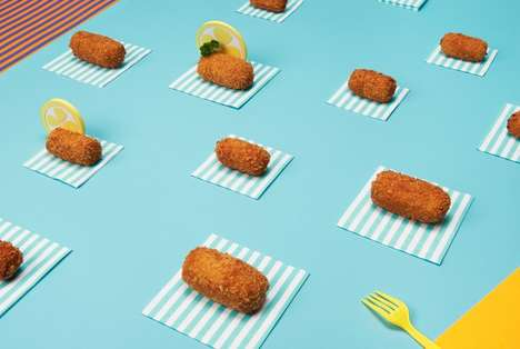 Playful Snack Photography - These Vibrant Images of Amsterdam Snacks Convey a Cultural Experience
