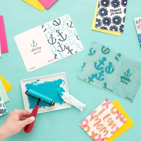 Letterpress At-Home Kits - Brit + Co Helps People Create Their Own Quality Cards and Art