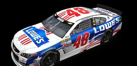 Patriotic Racing Cars - The No. 48 Car Will Don a Patriotic Paint Job On Independence Day