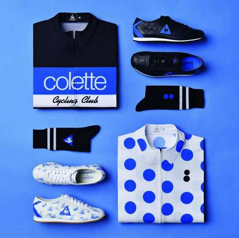 Stylish Cycling Gear - The Colette X Coq Sportif Collaboration Collection Hits Stores in July