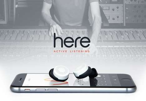 Immersive Audio Headphones - The 'Here Active Listening' Earbuds are Made for Real World Audio