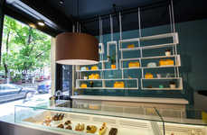 Gourmet Dessert Shops - Belgrade's Mandarin Pastry Shop Boasts Artisanal Treats and Bold Branding