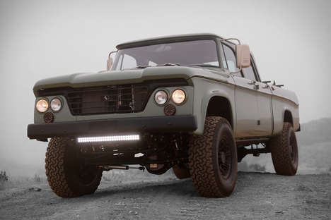 Modernized Retro Trucks - The Icon Dodge Power Wagon Crew Cab Boasts a Contemporary Interior