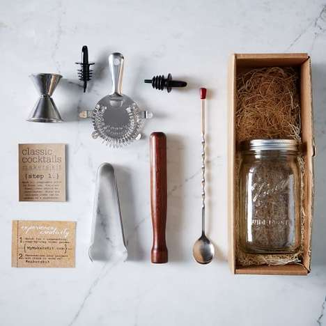 Rustic Cocktail Kits - MakersKit's DIY Drink Set is a Perfect Father's Day Gift
