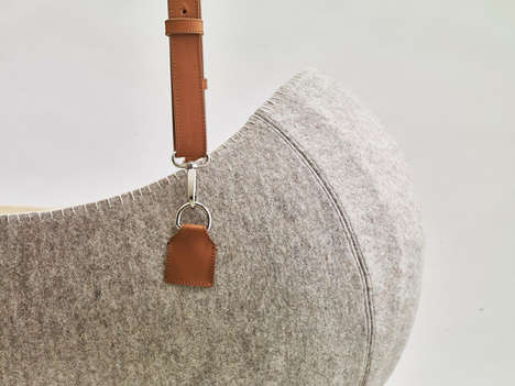 Hanging Felt Cradles - The Little Nest Mimics the Womb for Newborn Babies