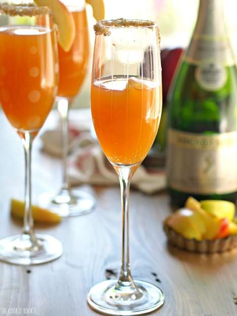 Apple Cider Mimosas - The Cookie Rookie's Brunch Drink Recipe Blends Two Classic Beverages