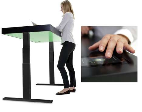 Kinetic Standing Desks - Stir's M1 and F1 Furniture Models Are Infused with Touchscreen Technology