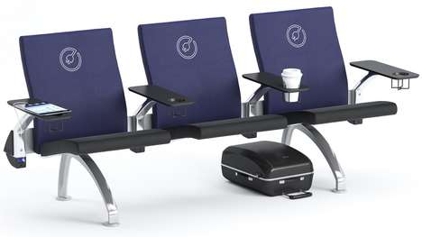 Connected Airport Seating - Araconas Creates Public Seating With Built-In Charging Docks
