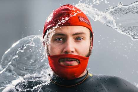 Swimming Beard Caps - Virgin Train Designs a Unique Water Cover for Facial Hair