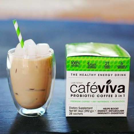 Probiotic Coffees - 'Café Viva' Combines the Taste of Coffee with the Health Benefits of Probiotics