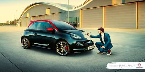 Artistic Auto Ads - The Vauxhall Campaign Shows How 'Every One's an Original'