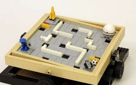 Marble-Tilting Games - The Lego Labyrinth Marble Maze is Based On a Fan Submission