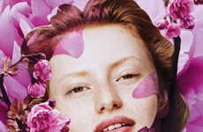 Botanical Beauty Portraits - Elle France's 'A Fleur de Peau' Series Features Artistic Filters