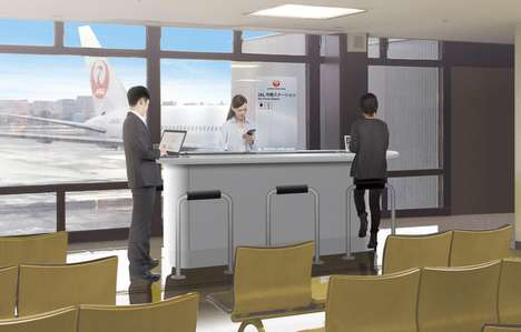 Check-In Charging Bars - Japan Airlines' New Travel Charging Kiosks Top Up Mobile Devices
