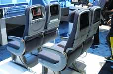 High-Tech Airline Seats - Panasonic's X Series 'Jazz Seats' Entertain and Charge Devices