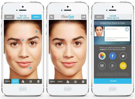 Skin Health Apps - ModiFace's New Apple Watch Skin Care App Uses Skin Scanners and Real-Time Cameras