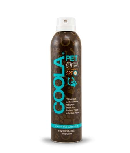 Pet-Approved Sunscreen Sprays - The Coola Pet Sunscreen Protects Canines from Harmful Rays