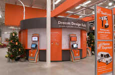 Sensory Hardware Shops - This Home Depot Retail Display is an Interactive Decor Guide for Visitors
