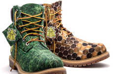 Bee-Inspired Boots - The New Pharrell and Timberland Shoe Collection is Made from Recycled Plastic