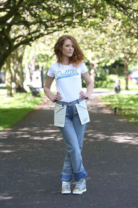 Inside-Out Jeans - The Movie 'Back to the Future' Inspired These Unique Jeans