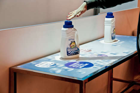 Digitized Detergent Displays - This Woolite Retail Display Informs and Intrigues Consumers
