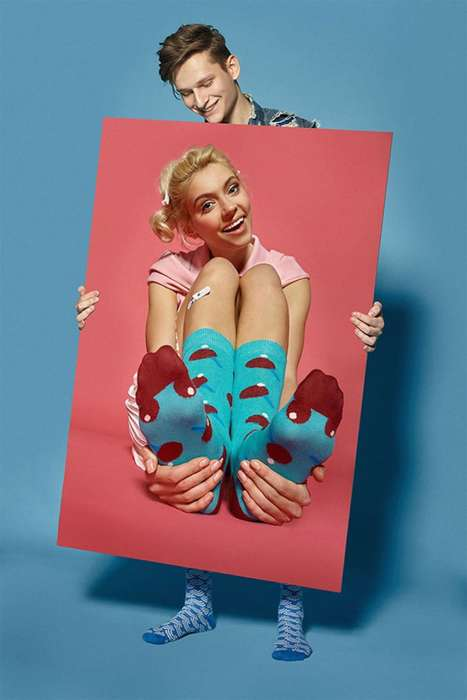 Sock-Centric Photography - This Photograph Collection Shows Flamboyant Socks with Bright Colors