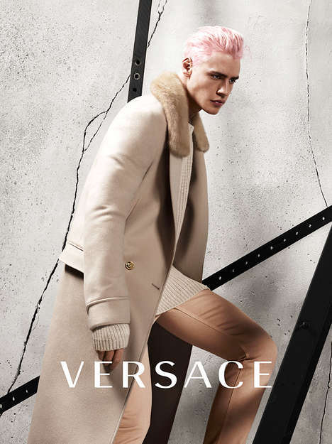 Luxe Raver Fashion - The Latest Versace Menswear Campaign Blends Edgy and Elegant Looks