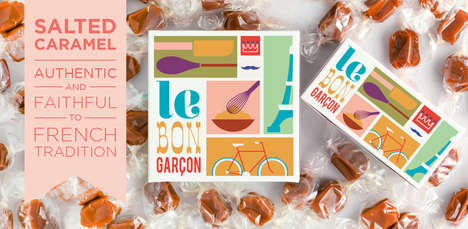French-Packaged Candies - The Minimalist Packaging of These French Caramels is Rustic & Simple