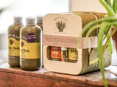 Earthy Aloe Packaging - Aruba Aloe's Carries Its Philosophy from Natural Packaging to Products