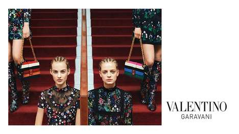 Couture Cornrow Campaigns - The Valentino Garavani Advertisements Reveal Tightly Bound Hairdos