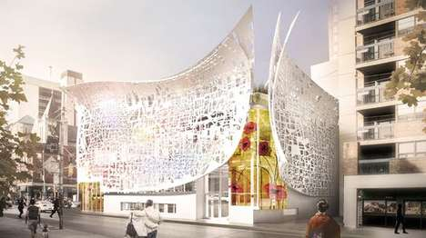 Digitized Facade Buildings - This OCAD University Building in Toronto Will Have a Readable Facade