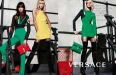 Leggy Fashion Ads - The Versace Fall Campaign Stars Karlie Kloss, Caroline Trentini and Lexi Boling