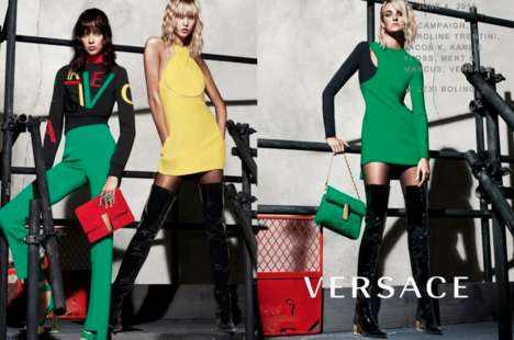 Leggy Fashion Ads - The Versace Fall Campaign Stars Karlie Kloss, Caroline Trentini and Lexi Boling