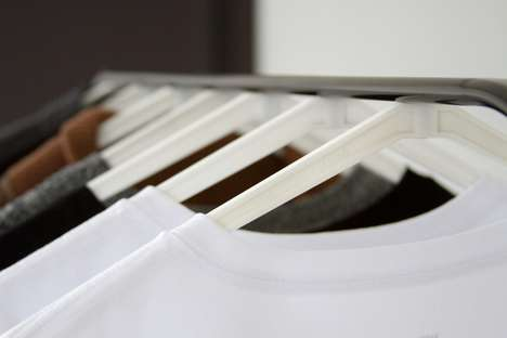 Magnetic Clothing Storage - The 'Cling' Hangers Provide a More Practical Way of Hanging Clothes
