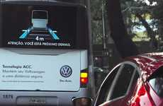 Distance-Minding Auto Ads - Volkswagen Puts Its Adaptive Cruise Control to Work on the Back of a Bus