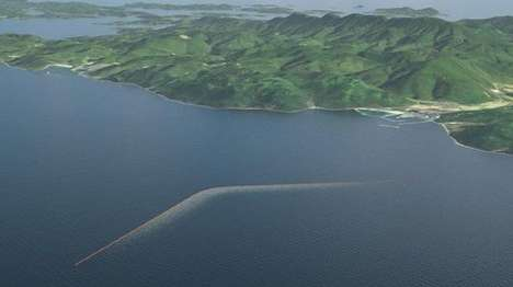 Ocean Cleanup Structures - The Ocean's Longest Floating Structure Will Help Rid Oceans of Plastic