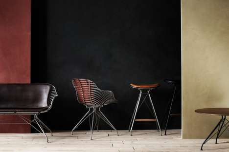 Saddle-Inspired Seating - The Wire Bar Stool by Overgaard & Dyrman is Rustically Modern