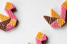 DIY Origami Cookies - The 'Fete Gazette' Blog Has Created Adorable Paper Cranes Out of Wafer Cookies