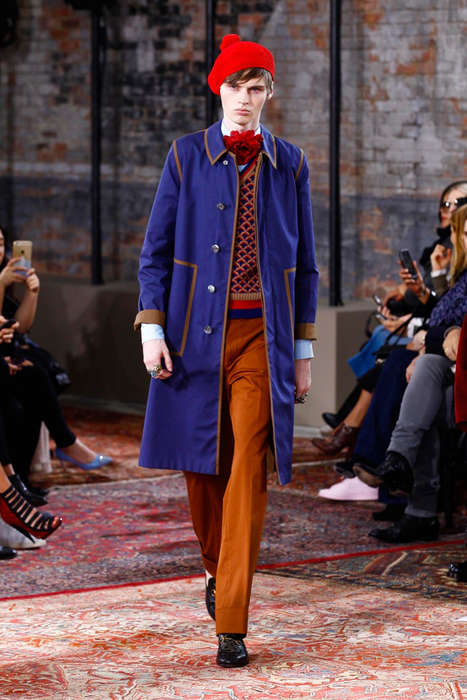 Eclectic Prep Fashion - The Latest Gucci Menswear Range Embodies Vintage Elegance