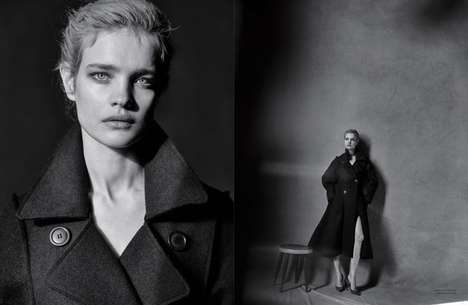 Couture Contrasting Photoshoots - The Dior Magazine Natalia Vodianova Editorial Splices Images