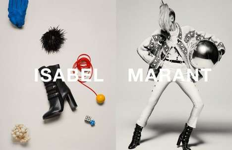 Toy-totting Campaigns - The Isabel Marant Inez & Vinoodh Advertisements Are Playful